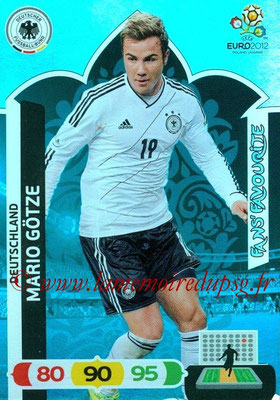 Panini Euro 2012 Cards Adrenalyn XL - N° 244 - Mario GÖTZE (Allemagne) (Fans' Favourite)