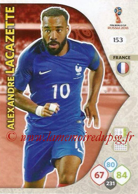 2018 - Panini FIFA World Cup Russia Adrenalyn XL - N° 153 - Alexandre LACAZETTE (France)