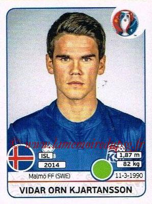 Panini Euro 2016 Stickers - N° 625 - Vidar Orn KJARTANSSON (Islande)