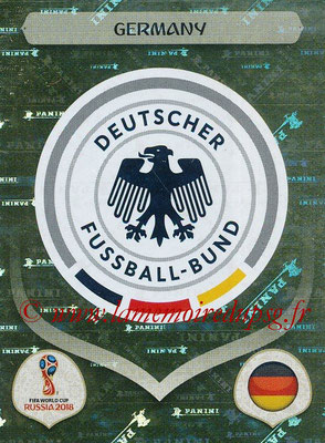 2018 - Panini FIFA World Cup Russia Stickers - N° 432 - Ecusson Allemagne