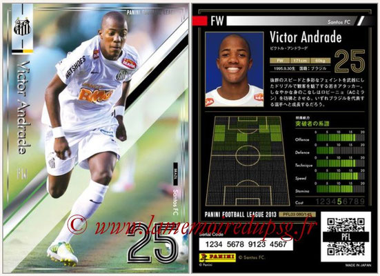 Panini Football League 2013 - PFL03 - N° 080 - Victor Andrade (FC Santos)