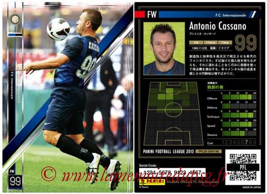 Panini Football League 2013 - PFL02 - N° 024 - Antonio Cassano ( F.C. Internazionale )