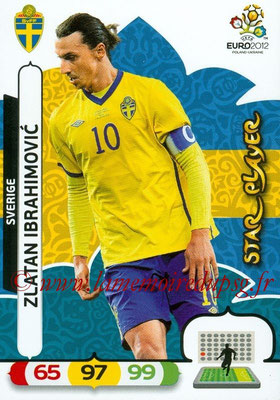 Panini Euro 2012 Cards Adrenalyn XL - N° 211 - Zlatan IBRAHIMOVIC (Suède) (Star Player)