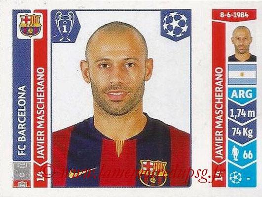 2014-15 - Panini Champions League N° 420 - Javier MASCHERANO (FC Barcelone)