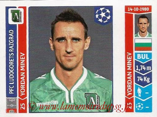 2014-15 - Panini Champions League N° 167 - Yordan MINEV (Ludogorets Razgrad)