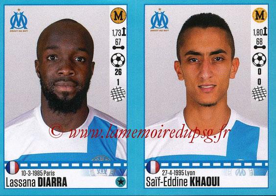2016-17 - Panini Ligue 1 Stickers - N° 410 + 411 - Lassana DIARRA + Saïf-Eddine KHAOUI (Marseille)