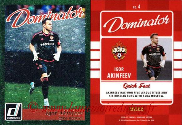 2016 - Panini Donruss Cards - N° D04 - Igor AKINFEEV (CSKA Moscou) (Dominator)