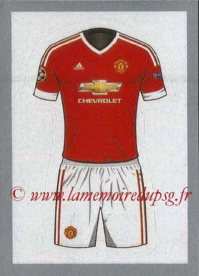 2015-16 - Topps UEFA Champions League Stickers - N° 080 - Maillot Domicile Manchester United FC