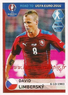 Panini Road to Euro 2016 Stickers - N° 034 - David LIMBERSKY (République Tchèque)