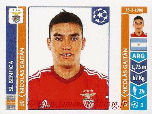 2014-15 - Panini Champions League N° 191 - Nicolas GAITAN (SL Benfica)
