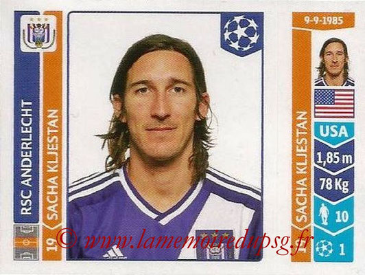 2014-15 - Panini Champions League N° 321 - Sacha KLJESTAN (RSC Anderlecht)