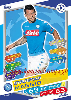 2016-17 - Topps UEFA Champions League Match Attax - N° NAP7 - Christian MAGGIO (SSC Naples)