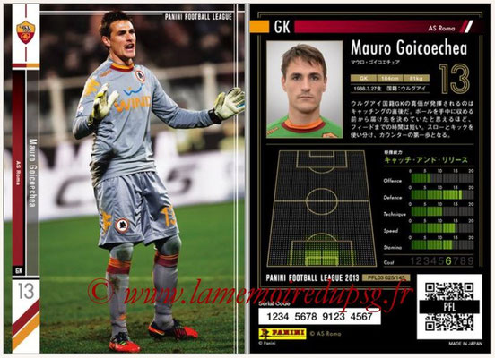 Panini Football League 2013 - PFL03 - N° 025 - Mauro Goicoechea (AS Roma)