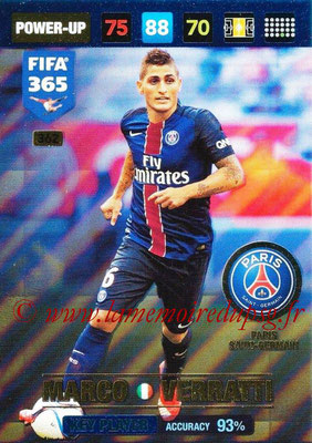 2016-17 - Panini Adrenalyn XL FIFA 365 - N° 362 - Marco VERRATTI (Paris Saint-Germain) (Key Player)