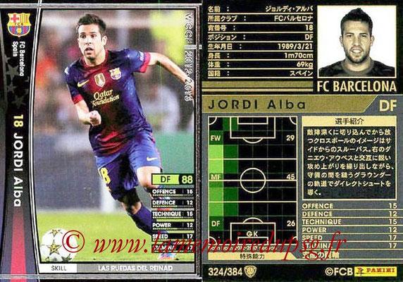 2012-13 - WCCF - N° 324 - Jordi ALBA (FC Barcelone)