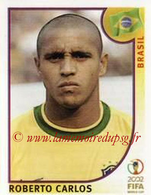 2002 - Panini FIFA World Cup Stickers - N° 176 - Roberto CARLOS (Brésil)