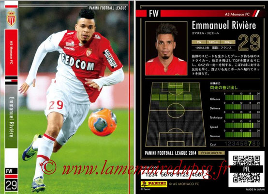 Panini Football League 2014 - PFL08 - N° 080 - Emmanuel RIVIERE (AS Monaco)