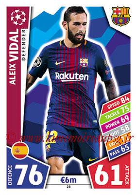 2017-18 - Topps UEFA Champions League Match Attax - N° 028 - Aleix VIDAL (FC Barcelone)