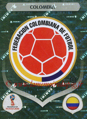 2018 - Panini FIFA World Cup Russia Stickers - N° 632 - Ecusson Colombie