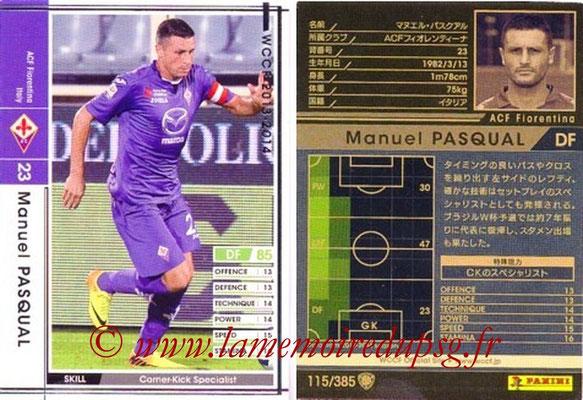2013-14 - WCCF - N° 115 - Manuel PASQUAL (ACF Fiorentina)