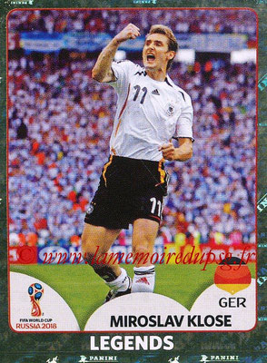 2018 - Panini FIFA World Cup Russia Stickers - N° 681 - Miroslav KLOSE (Allemagne) (FIFA World Cup Legends)