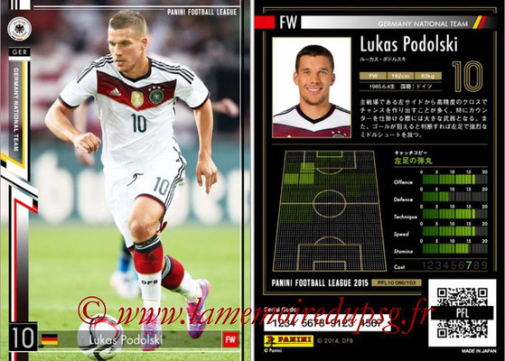 Panini Football League 2015 - PFL10 - N° 086 - Lukas PODOLSKI (Allemagne)