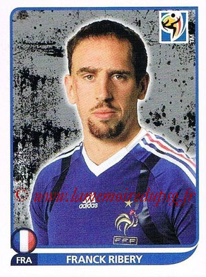 2010 - Panini FIFA World Cup South Africa Stickers - N° 100 - Franck RIBERY (France)