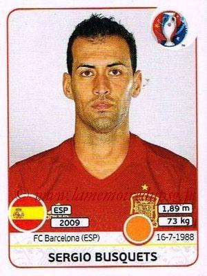 Panini Euro 2016 Stickers - N° 361 - Sergio BUSQUETS (Espagne)
