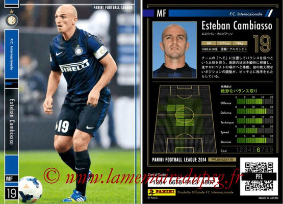 Panini Football League 2014 - PFL08 - N° 020 - Esteban CAMBIASSO (Inter)