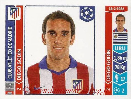 2014-15 - Panini Champions League N° 040 - Diego GODIN  (Atletico Madrid)