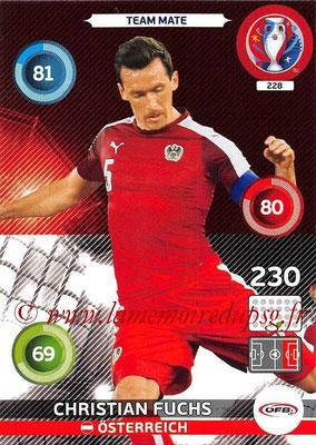 Panini Euro 2016 Cards - N° 228 - Christian FUCHS (Autriche)