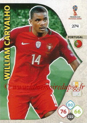 2018 - Panini FIFA World Cup Russia Adrenalyn XL - N° 274 - William CARVALHO (Portugal)