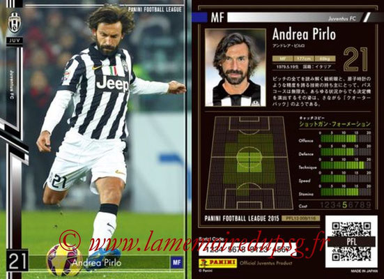Panini Football League 2015 - PFL13 - N° 008 - Andrea PIRLO (Juventus FC)