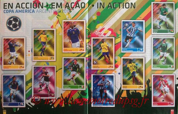 Panini Copa América Argentina 2011 - Pages 42 et 43 - En action