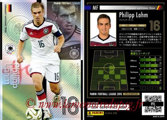 Panini Football League 2015 - PFL10 - N° 097 - Philipp LAHM (Allemagne) (National Bandiera)