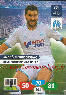2013-14 - Adrenalyn XL champions League N° 214 - André-Pierre GIGNAC (Olympique de Marseille)