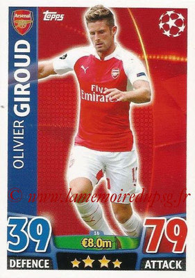 2015-16 - Topps UEFA Champions League Match Attax - N° 016 - Olivier GIROUD (Arsenal FC)