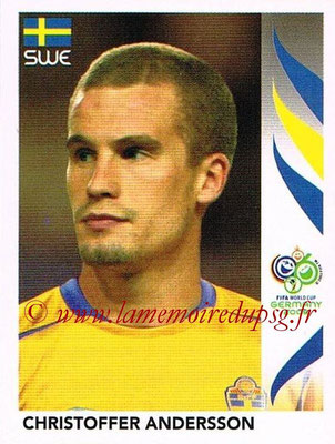 2006 - Panini FIFA World Cup Germany Stickers - N° 153 - Christoffer ANDERSSON (Suède)