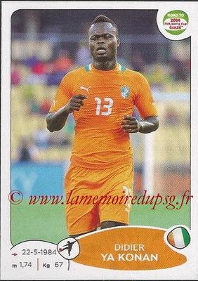 2014 - Panini Road to FIFA World Cup Brazil Stickers - N° 396 - Didier YA KONAN (Côte d'Ivoire)