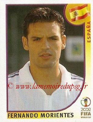 2002 - Panini FIFA World Cup Stickers - N° 112 - Fernando MORIENTES (Espagne)