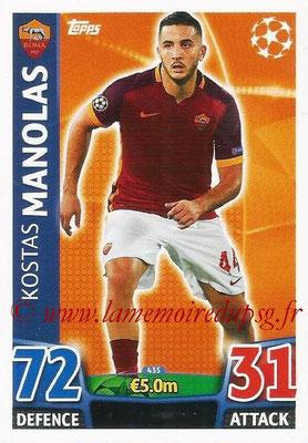 2015-16 - Topps UEFA Champions League Match Attax - N° 435 - Kostas MANOLAS (AS Roma)
