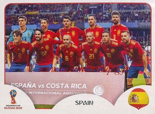 2018 - Panini FIFA World Cup Russia Stickers - N° 133 - Equipe Espagne