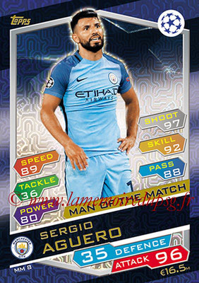 2016-17 - Topps UEFA Champions League Match Attax - N° MM8 - Sergio AGUERO (Manchester City FC) (Man of the Match)