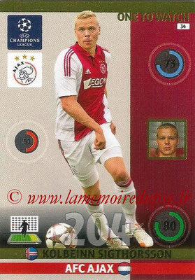 2014-15 - Adrenalyn XL champions League N° 034 - KolbeinnNick VIERGEVER (AFC Ajax) (One to Watch)