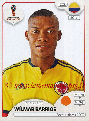 2018 - Panini FIFA World Cup Russia Stickers - N° 645 - Wilmar BARRIOS (Colombie)