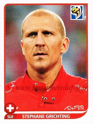 2010 - Panini FIFA World Cup South Africa Stickers - N° 586 - Stephane GRICHTING (Suisse)