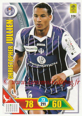 2017-18 - Panini Adrenalyn XL Ligue 1 - N° 328 - Christopher JULLIEN (Toulouse)