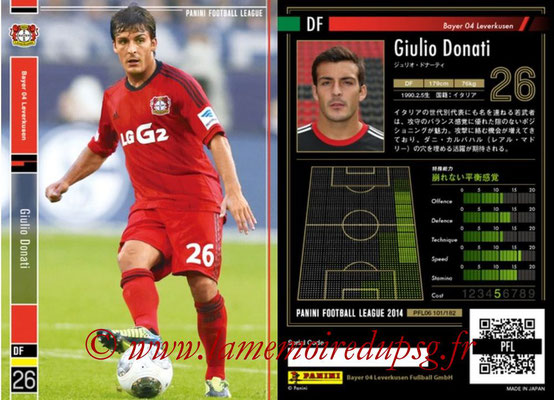 Panini Football League 2014 - PFL06 - N° 101 - Giulio DONATI (Bayer 04 Leverkusen)