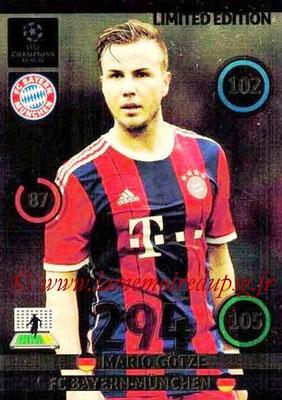 2014-15 - Adrenalyn XL champions League N° LE-MG - Mario GOTZE (Bayern Munich) (Limited Edition)