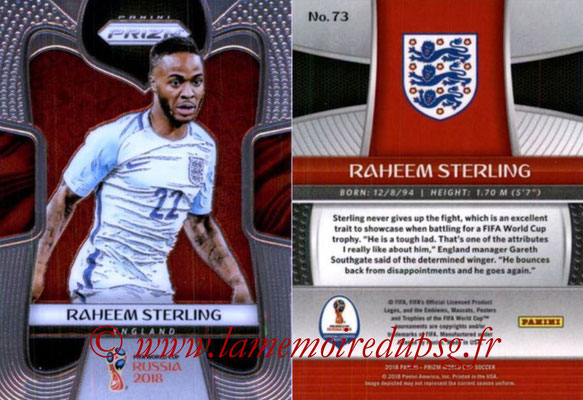 2018 - Panini Prizm FIFA World Cup Russia - N° 073 - Raheem STERLING (Angleterre)